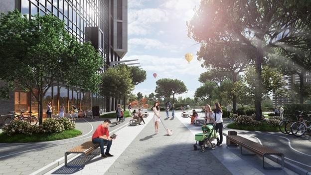ЖК «Greenville Park» в Киеве находится в районе с хорошей экологией и развитой инфраструктурой.
