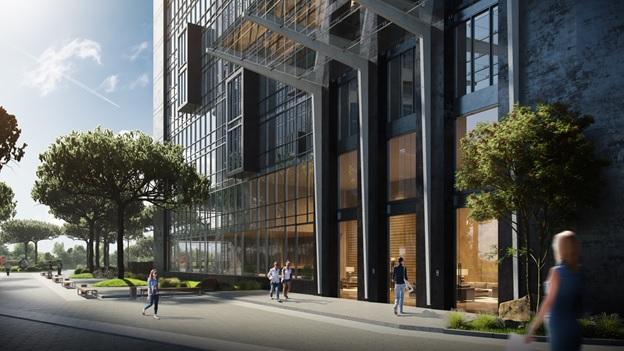 ЖК «Гринвилль парк» – это два 26-этажных дома с продуманными экстерьерами и уютными квартирами.