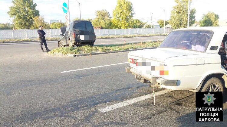 На Новых домах столкнулись автомобили: Пострадала женщина (ФОТО)