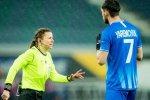 Арбитр из Харькова стала героем курьезного эпизода в Лиге Европы
