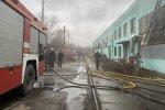 В Харькове спасатели два часа тушили пожар на предприятии