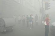 Горсовет заволокло дымом. Фото: NewsRoom