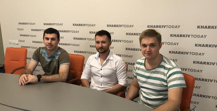 Слева направо: Дмитрий Глазунов, Олег Бородай, Егор Куц