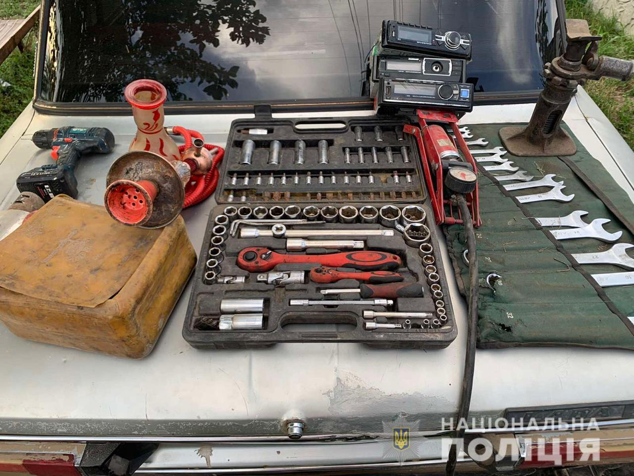 У автоворов изъяли украденное и орудия преступлений. Фото: ГУ НП в Харьковской области